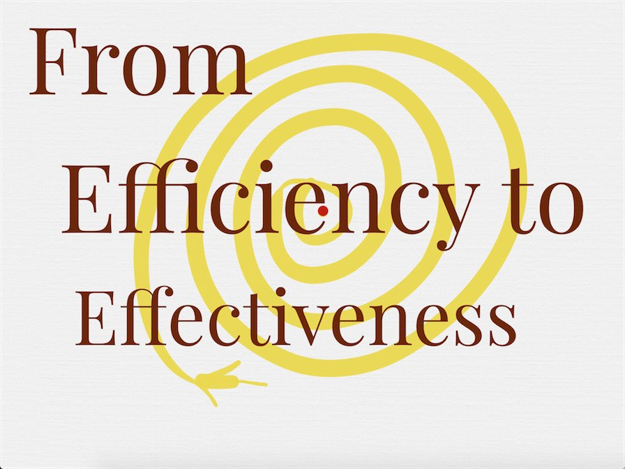 Form Efficiency to Effectiveness
